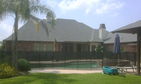 installed pool safety fence in Louisiana