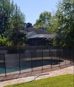 Black 4' Pool Fence in Louisiana