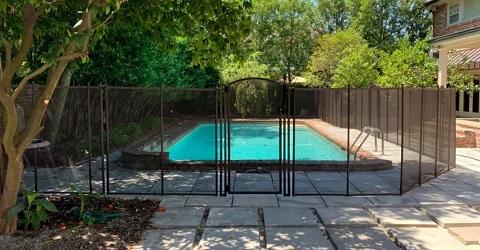 brown mesh pool fence Morgan City, Louisiana