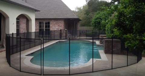 black Life Saver removable mesh pool fence in Ocean Springs, MS