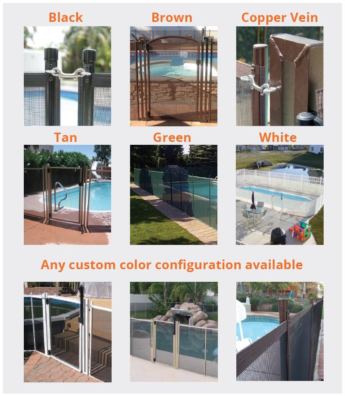 pool gates color options
