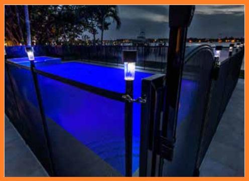 pool fence solar lights