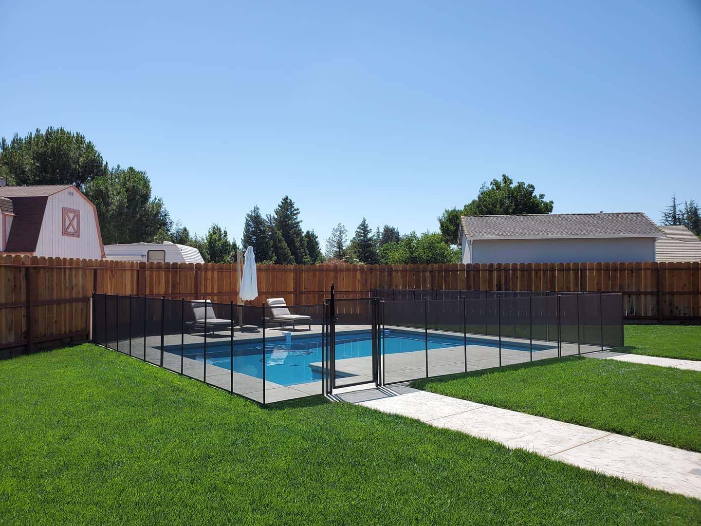 removable mesh pool fence Hammond