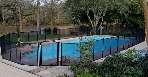 pool fence installed in Mandeville, Louisiana