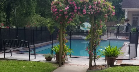 removable mesh pool fence Mandeville