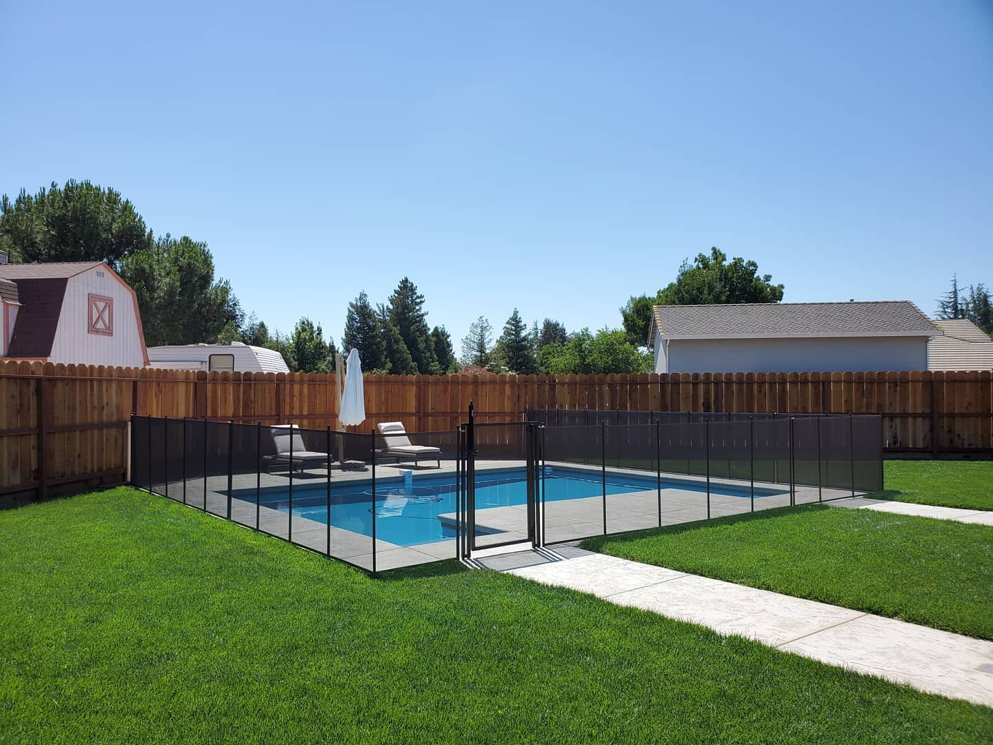child pool safety fence installed in Covington, Louisiana